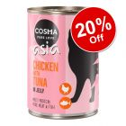 18 x 400g Cosma Asia in Jelly Wet Cat Food - 20% Off!*