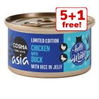 6 x 85g Cosma Asia Winter Edition Wet Cat Food - 5 + 1 Free!*