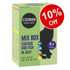 6 x 100g Cosma Original Pouches Mixed Pack. Wet Cat Food - 10% Off!*