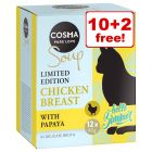 12 x 40g Cosma Soup Summer Edition Wet Cat Food - 10 + 2 Free!*
