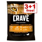 4 x 750g Crave Adult Dry Cat Food - 3 + 1 Free!*