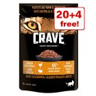 24 x 85g Crave Cat Pouches Wet Cat Food - 20 + 4 Free!*