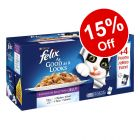 44 x 100g Felix As Good As It Looks Jumbo Pack Wet Cat Food - 15% Off!*
