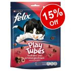 5 x 180g Felix Play Tubes Cat Treats - 15% Off!*