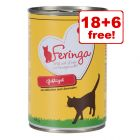 24 x 400g Feringa Classic Meat Menu Wet Cat Food - 18 + 6 Free!*