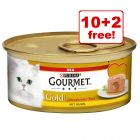 12 x 85g Gourmet Gold Wet Cat Food - 10 + 2 Free!*