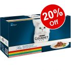 60 x 85g Gourmet Perle Mixed Pack Wet Cat Food - 20% Off!*