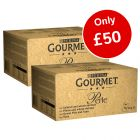 192 x 85g Gourmet Perle Pouches Mixed Mega Pack Wet Cat Food - Only £50!*