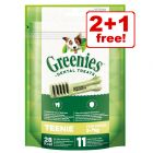 3 x 85g Greenies Canine Dental Chews - 2 + 1 Free!*