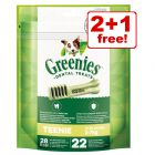 3 x 170g Greenies Grain-Free & Original Dental Care Snacks - 2 + 1 Free!*