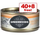 48 x 70g Greenwoods Adult Wet Cat Food - 40 + 8 Free!*