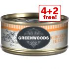 6 x 70g Greenwoods Adult Wet Cat Food - 4 + 2 Free!*