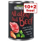12 x 400g Greenwoods Adult Wet Dog Food - 10 + 2 Free!*