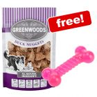 5 x 100g Greenwoods Nuggets Dog Treats + Thermoplastic Dog Toy Bone Free!*