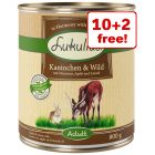 12 x 800g Lukullus Natural Wet Dog Food - 10 + 2 Free!*