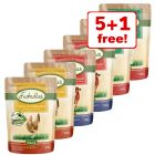 6 x 300g Lukullus Pouches Mixed Pack Wet Dog Food - 5 + 1 Free!*