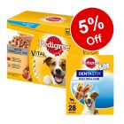 96 x 100g Pedigree Dog Pouches + 28 x Dentastix Daily Oral Care - 5% Off!*