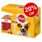 12 x 100g Pedigree Wet Dog Food Multipack Pouches - 20% Off!*