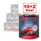 12 x 800g Rocco Wet Dog Food Mixed Trial Packs - 10 + 2 Free!*