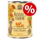12 x 400g Rosie's Farm Sunny Summer Wet Dog Food - Special Price!*
