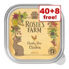 48 x 100g Rosie's Farm Wet Cat Food - 40 + 8 Free!*