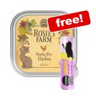 16 x 100g Rosie's Farm Wet Cat Food + 30g Cosma Snackies XXL Free!*