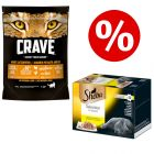 48 x 85g Sheba Wet Cat Food + 750g Crave Dry Cat Food - Special Bundle!*