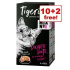 12 x 85g Tigeria Wet Cat Food - 10 + 2 Free!*