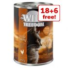 24 x 400g Wild Freedom Adult Wet Cat Food - 18 + 6 Free!*