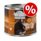 24 x 200g Wild Freedom Adult Wet Cat Food - 25% Off!*