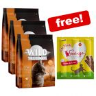 3 x 400g Wild Freedom Dry Cat Food + Feringa Chicken & Duck Sticks Free!*