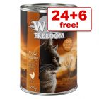 30 x 400g Wild Freedom Wet Cat Food - 24 + 6 Free!*