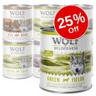 6 x 800g Wolf of Wilderness Adult Mixed Pack Wet Dog Food - 25% Off!*
