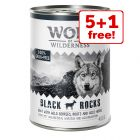 6 x 400g Wolf of Wilderness Adult Wet Dog Food - 5 + 1 Free!*