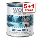 6 x 800g Wolf of Wilderness Classic Wet Dog Food - 5 + 1 Free!*