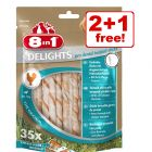 3 x 8in1 Delights Dog Snacks - 2 + 1 Free!*