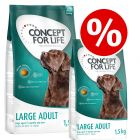 2 x 1.5kg Concept for Life Dry Dog Food - Buy One Get One Half Price!*