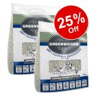 2 x 14kg Greenwoods Clumping Cat Litter with Zeolite - 25% Off!*