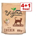 4 x 1.4kg Purina Beyond Dry Cat Food - 4 + 1 Free!*