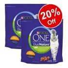 2 x 1.4kg Purina ONE Dual Nature Dry Cat Food - 20% Off!*