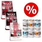 3 x 1kg Wolf of Wilderness Trial Pack + 6 x 400g Wet Food - Special Price!*