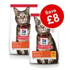 2 x Large Bags Hill's Science Plan Dry Cat Food - £8 Off!*