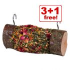4 x Mr Woodfield Roll 'n' Fun Nibble Log - 3 + 1 Free!*