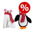 25% скидка! Пингвин и белый медведь с кошачьей мятой
