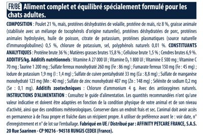 Advance Adult poulet, riz pour chat