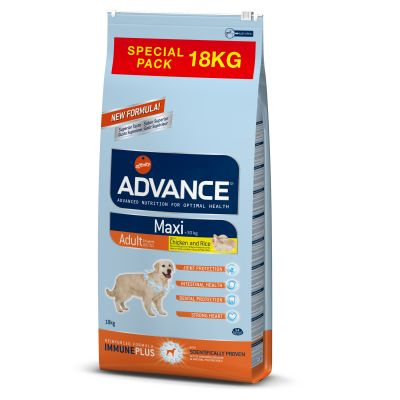 Advance 18 kg Medium e Maxi em formato económico