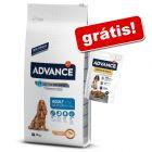 Advance ração 7,5 kg a 18 kg + snack Advance grátis!