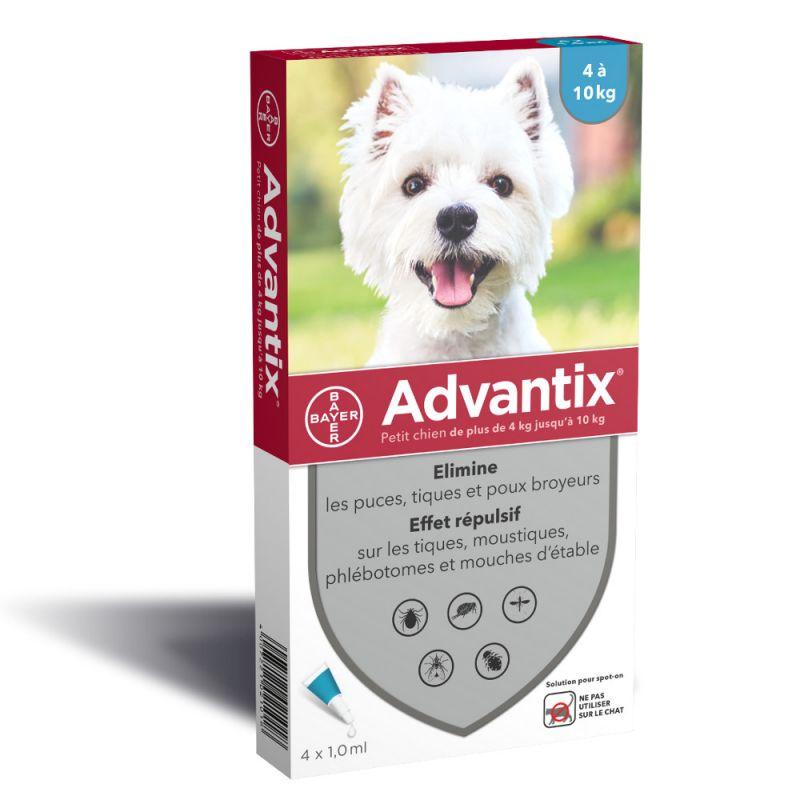 Advantix® petit chien, de 4 kg à 10 kg
