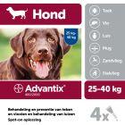 Advantix® 400/2000 Spot-On Solution voor Honden 25 - 40 kg
