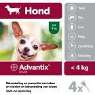 Advantix® 40/200 Spot-On Solution voor Honden tot 4 kg